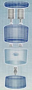 Schema Stéfani CRISTAL 8L Trinkwasserfilter-System