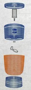 Stéfani ADVANCE Plus Wasserfilter 4L und 6L Modell, Bestandteile